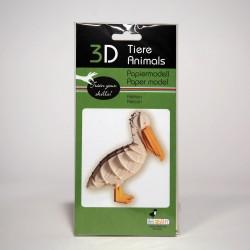 3D Papiermodell - Pelikan