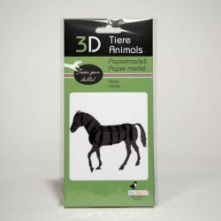 3D Papiermodell - Pferd