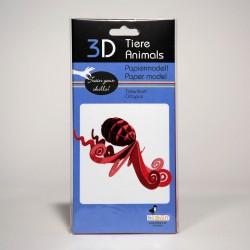 3D Papiermodell - Tintenfisch