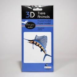3D Papiermodell - Segelfisch