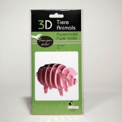 3D Papiermodell - Schwein