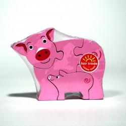 Holzpuzzle - Schwein mit...