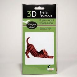 3D Papiermodell - Rotbraune...